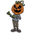 Halloween pumpkin monster vector image
