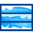 baner header water aqua blue element vector image