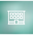 Modern office building thin line icon vector image