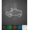 armoured personnel carrier icon vector image