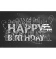 Chalk Happy Birthday blackboard background vector image