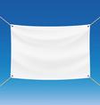 White banner Stock vector image