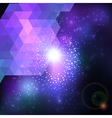 Abstract blue lens flare technology background vector image