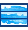 baner header water aqua blue element vector image