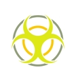 Biohazard sign round flat icon vector image