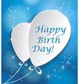 Colorful birthday cardd in flat design style vector image