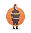 fireman icon fire fighter professional worker vector image