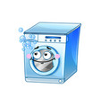 funny washing machine cartoon character vector image