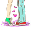 Legs of couple in love vector image