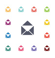 mail flat icons set vector image