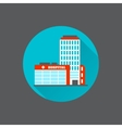 Medical building flat vector image