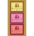 set of labels for bottles of wine or menu vector image