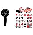 Shower Head Flat Icon with Bonus vector image