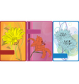 set of cards with flowers vector image vector image