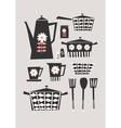 Retro Kitchen Set vector image