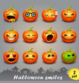 halloween smiles-set 2 vector image