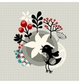 Floral banner with birds and flowers vector image