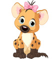 baby girl hyena vector image vector image
