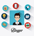 Blogger digital design vector image