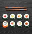 sushi roll set Japanese sushi vector image vector image