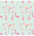 Flamingo Bird Background Retro Seamless Pattern vector image vector image