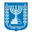 coat of arms of Israel vector image