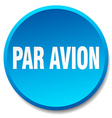 par avion blue round flat isolated push button vector image