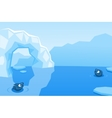 Arctic background with ice floes icebergs vector image