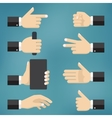 collection of hand gestures vector image