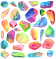 Colorful watercolor gem vector image