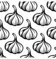 Garlic vegetables colorless seamless pattern vector image