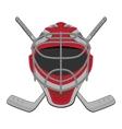Hockey goalie vector image