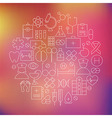 Thin Health Care Line Medical Icons Set Circle vector image