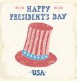vintage label hand drawn american cylinder hat vector image