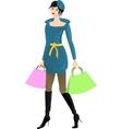 Girl going shopping vector image vector image