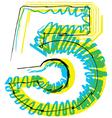 Sketch font Number 5 vector image vector image