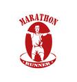 marathon runner run race vector image
