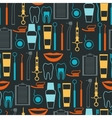 Medical seamless pattern with dental equipment vector image
