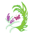 Butterfly with Floral2 vector image