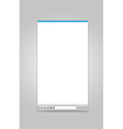 Opened browser windows template vector image vector image