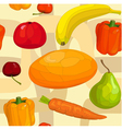 seamless pattern of fruits and vegetables vector image