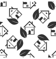 Eco House icon pattern vector image