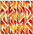 fire color geometric seamless pattern vector image