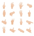 Hand set in isometric 3d style vector image