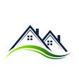 Houses Real Estate logo vector image