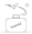 Travel or Vacation Linear Icon vector image