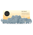 Cute animal family background with Elephants 2 vector image