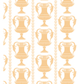 yellow cups vector image
