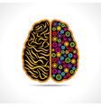 Conceptual idea -Brain with gear symbol vector image vector image