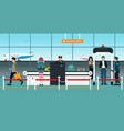 security checkpoint vector image vector image